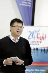 Dr Ong fighting against breast cancer (2015).