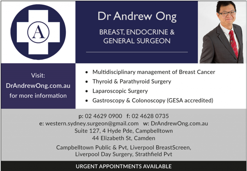 AusHealth Page, Dr Andrew Ong - Breast, Endocrine and General Surgeon